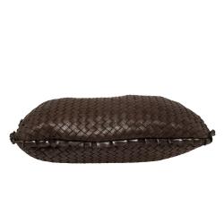 Bottega Veneta Brown Perforated Intrecciato Leather Veneta Hobo