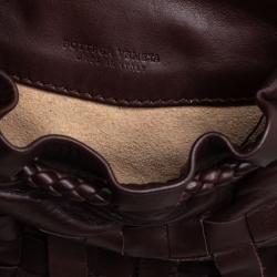 Bottega Veneta Brown Leather Fringe Small Pouch