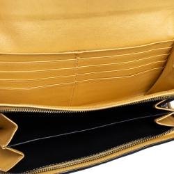 Bottega Veneta Black Snakeskin Continental Wallet