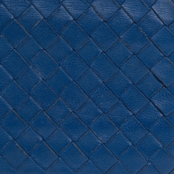 Bottega Veneta Blue Intrecciato Leather Bifold Card Holder