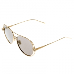 Boucheron Gold/Black Gold Mirrored BC0030S Serpent Boheme Aviator Sunglasses