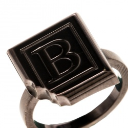 Boucheron Quatre Chocolate Square Brown PVD Coated 18k Gold Ring Size 52.5