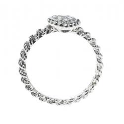 Boucheron Serpent Boheme 18k White Gold And Diamonds XS Motif Ring