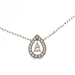268d045a826 Boucheron Ava Pear Diamond 18k White Gold Pendant Necklace