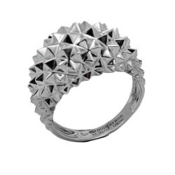 Boucheron White Gold Hedgehog Diamond Ring Size 53