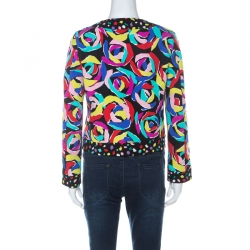 Boutique Moschino Multicolour Abstract Print Boxy Jacket S