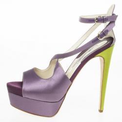 e2043be365c8 Buy Miu Miu Burgundy Satin Crystal Embellished Block Heel Ankle ...