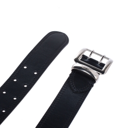 Burberry Black Leather Morgan Belt 85 CM