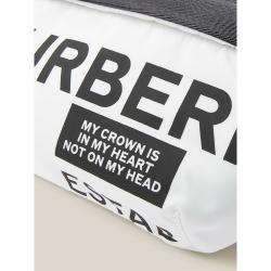 Burberry White Sonny Medium Logo Belt Bag