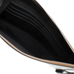 Burberry Black Leather Wristlet Pouch