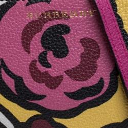 Burberry Multicolor Floral Print Leather Peyton Crossbody Bag