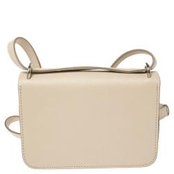Burberry Beige Leather Mini D-Ring Crossbody Bag