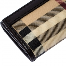Burberry Beige/Brown PVC and Leather Key Holder