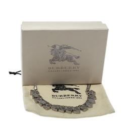 Burberry Textured Multi Charm Silver Tone Bracelet