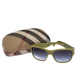 Burberry Olive Green Gradient B4104 Sunglasses
