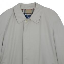Burberry Taupe Men's Cotton Twill Trench Coat XXXL