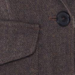 Burberry London Brown Wool One Button Blazer S