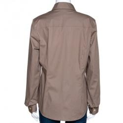 Burberry Cappuccino Brown Cotton Nova Check Detail Shirt XL