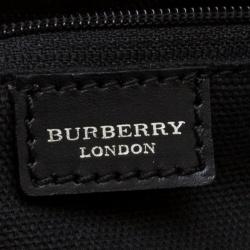 Burberry Beige/Black Nova Check PVC and Leather Satchel