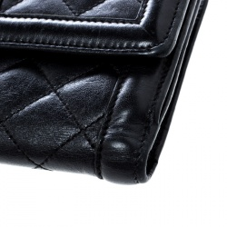 Burberry Black Quilted Leather Wallet