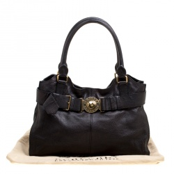 Burberry Black Leather Lambeth Tote