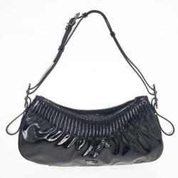 Burberry Black Patent Shoulder Bag