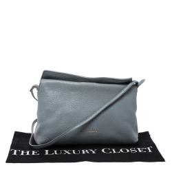 Burberry Grey Leather Crossbody Bag
