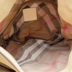 Burberry Beige Leather Multiple Pocket Shoulder Bag