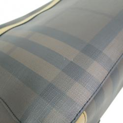 Burberry Brown Leather Novacheck Crossbody