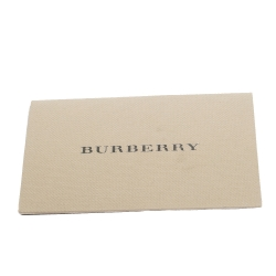 Burberry Black/Beige House Check Fabric And Rubber Clemence Rain Boots Size 39