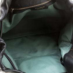 Bvlgari Black Leather Downy Tote