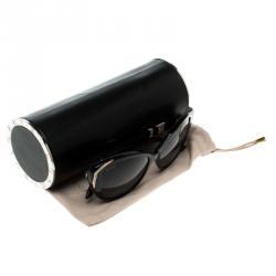 Bvlgari Black BV8151BM Crystal Embellished Cat Eye Sunglasses