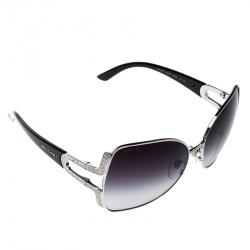 41f8c0d66c Bvlgari Silver Purple Gradient 6049B Embellished Square Oversize Sunglasses