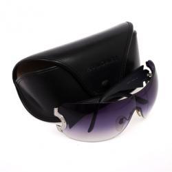 Bvlgari Black 653B Rhinestone Temple Shield Womens Sunglasses