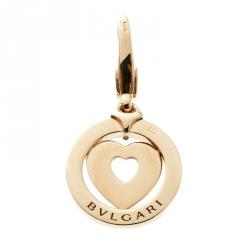 Bvlgari Tondo Heart 18k Yellow Gold Charm