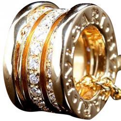 Bvlgari B.Zero1 Diamond 18K Yellow Gold Pendant Necklace