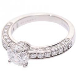 Bvlgari Diamond 18K White Gold Ring Size