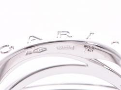 Bvlgari B.Zero Design Legend 18K White Gold 3-Band Ring Size 49