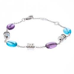 Bvlgari B.Zero1 Multi Gem 18k White Gold Station Bracelet