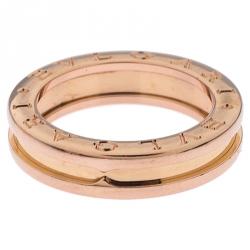 Bvlgari B.Zero1 18K Rose Gold One Band Ring Size 51