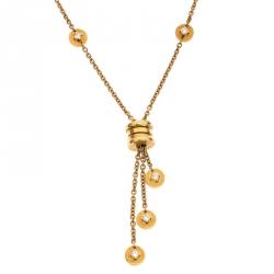 Bvlgari B.Zero1 Diamond 18k Yellow Gold Tassel Necklace