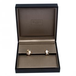 Bvlgari B.Zero1 White Ceramic 18k Rose Gold Earrings