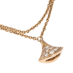 Bvlgari Divas' Dream Pavè Diamond 18K Rose Gold Charm Bracelet