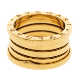 Bvlgari B.Zero1 18K Yellow Gold Four Band Ring Size 54