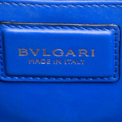 Bvlgari Blue Leather Medium Serpenti Forever Shoulder Bag