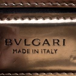 Bvlgari Brown Patent Leather Medium Serpenti Forever Shoulder Bag