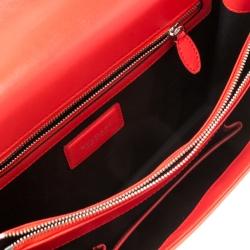 Bvlgari Red Leather Serpenti Forever Flap Shoulder Bag