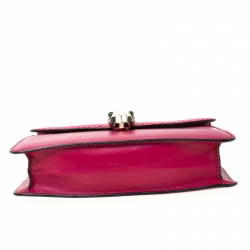 Bvlgari Dark Pink Leather and Stingray Serpenti Forever Shoulder Bag