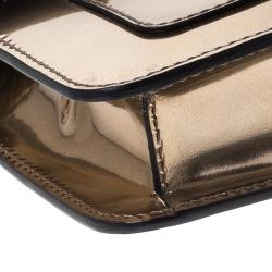 Bvlgari Metallic Bronze Patent Leather Serpenti Forever Shoulder Bag