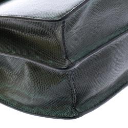 Bvlgari Green Python Leather Large Serpenti Forever Shoulder Bag